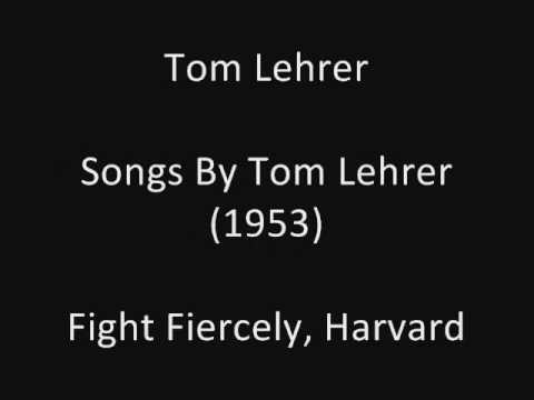 Tom Lehrer: Fight Fiercely, Harvard (studio solo) (1953)