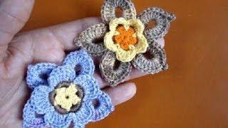 Crochet flower Как связать цветок крючком 60