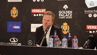 PERSCONFERENTIE | 2019.01.18 |YR KV Mechelen - KSV Roeselare