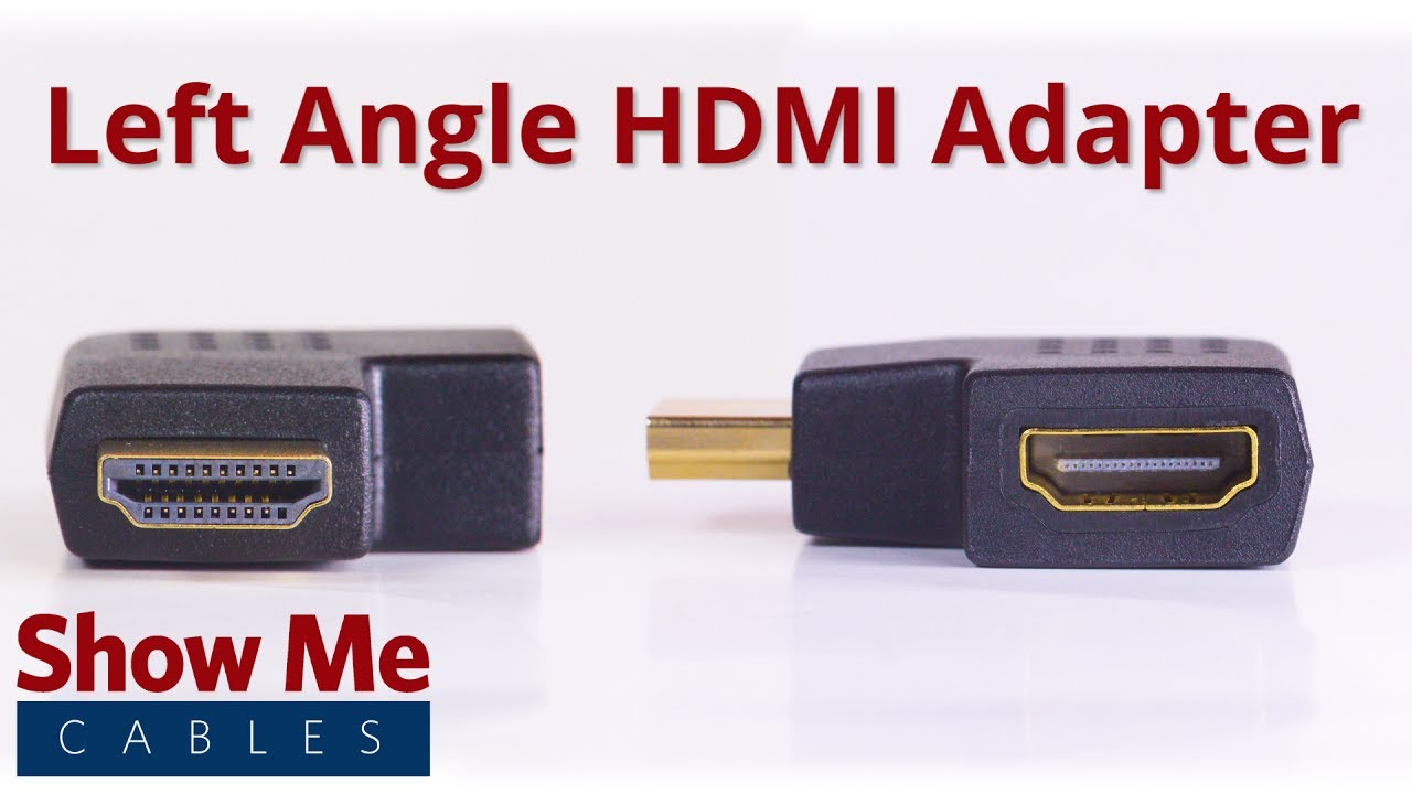 Hdmi Male To Female Left Angle Adapter 3009 Youtube Cable Connector
