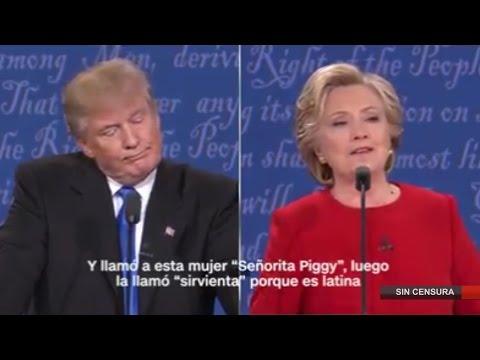 Hillary le reprocha a Trump sus comentarios denigrantes sobre las mujeres