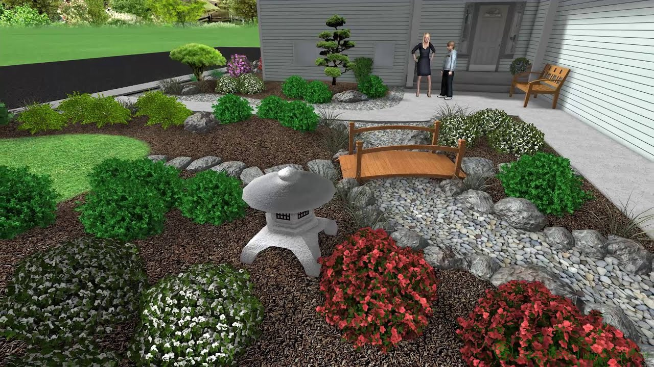 Japanese Garden Design - Scappoose, OR - Front Entrance ... on Japanese Garden Ideas For Small Backyard id=91632