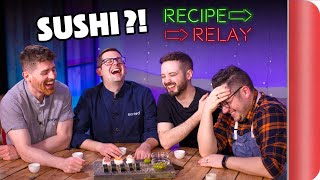 SUSHI Recipe Relay Challenge!! | Pass It On S2 E11