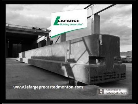 Lafarge Precast Edmonton Pre-stressed concrete Inverted  T Beam Production Sequence Alberta