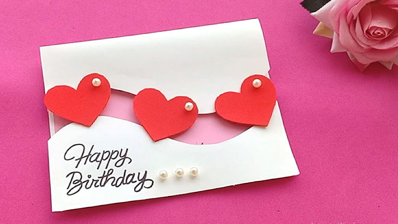 How to make Birthday Card//Handmade easy card Tutorial