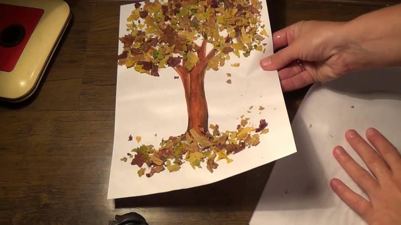 Осеннее дерево. Поделки на тему осень своими руками. Diy ...