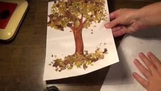 Осеннее дерево. Поделки на тему осень своими руками. Diy