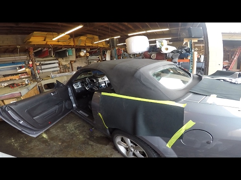 2005 Mustang. Installing a convertible top By Meca
