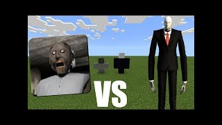 [Entertain Channel] SLENDERMAN vs GRANNY HORROR in Minecraft PE