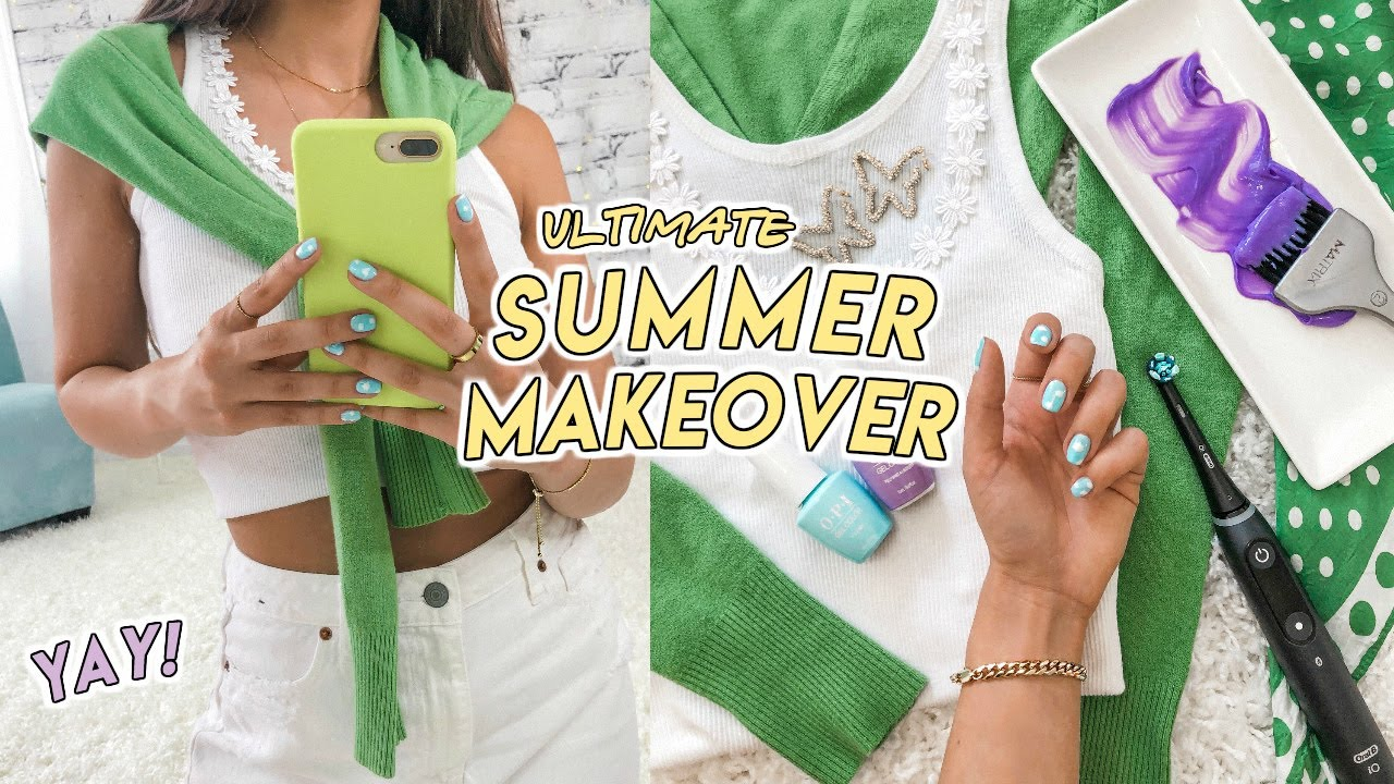 the ULTIMATE summer makeover ☆ new clothes, purple hair, diy nails + more!