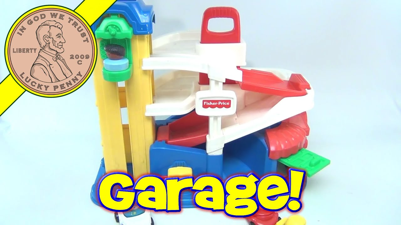 Fisher Price Little People Action Ramps Parking Garage No 72393 1995 Youtube