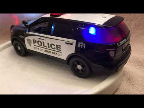 1/18 scale Long Beach NY Ford Explorer die cast model car with working lights and siren
