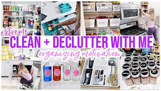 CLEAN + DECLUTTER WITH ME! EXTREME ORGANIZATION MOTIVATION! CLEAN WITH ME 2020 HOMEMAKING @Brianna K