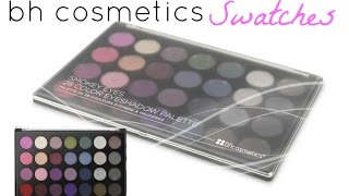 bh cosmetics smokey eyes palette swatches