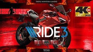 RIDE 3 [4K@60fps] | Triple monitor gameplay 5760x1080