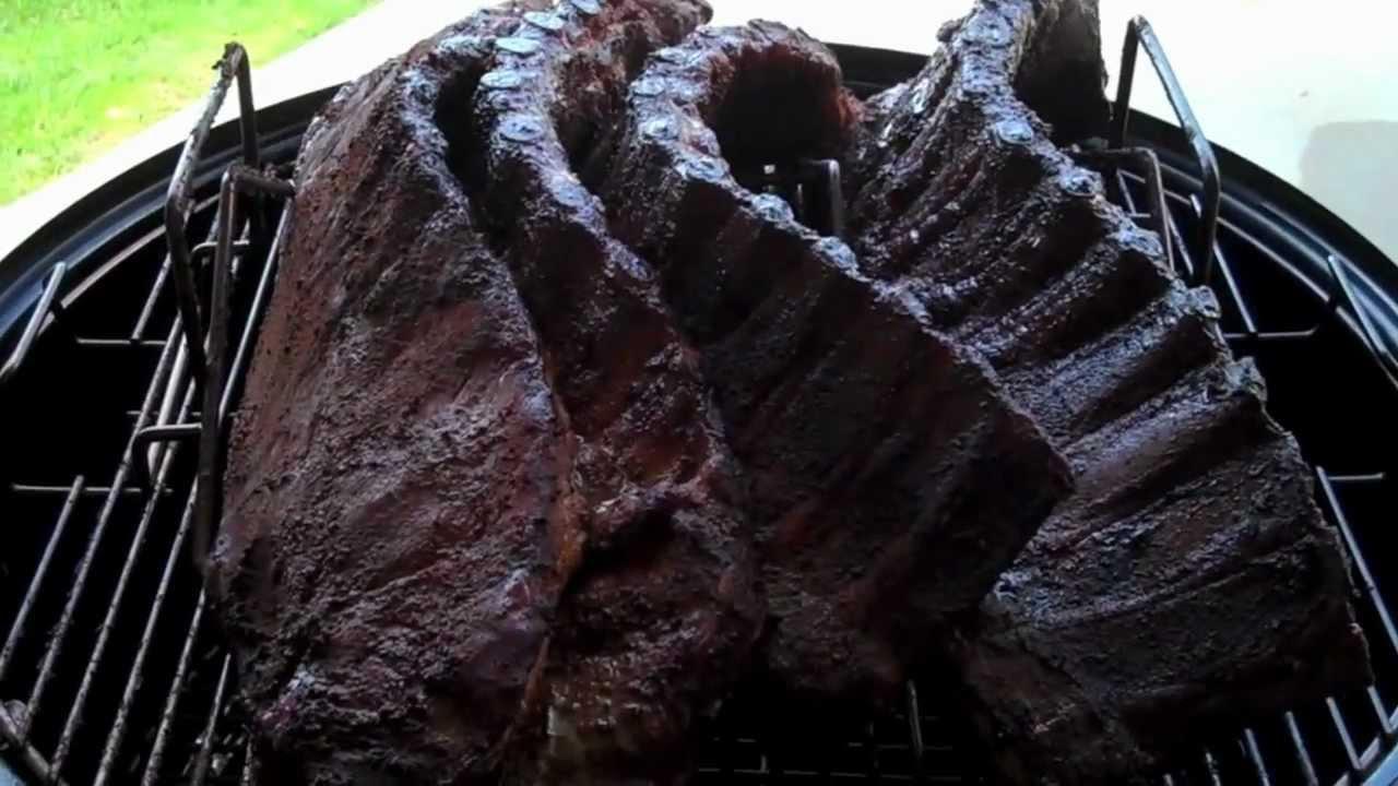weber smoky mountain ribs