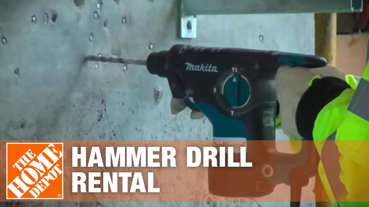 Hammer Drill Rental The Home Depot Youtube