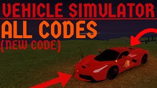 Roblox Vehicle Simulator: ALL CODES! (CRAZY New Code)