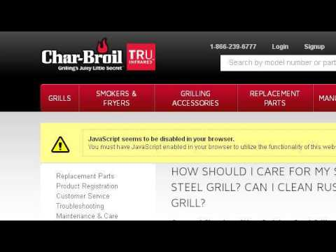 How-To Clean Rust From A Gas Char-Broil Grill