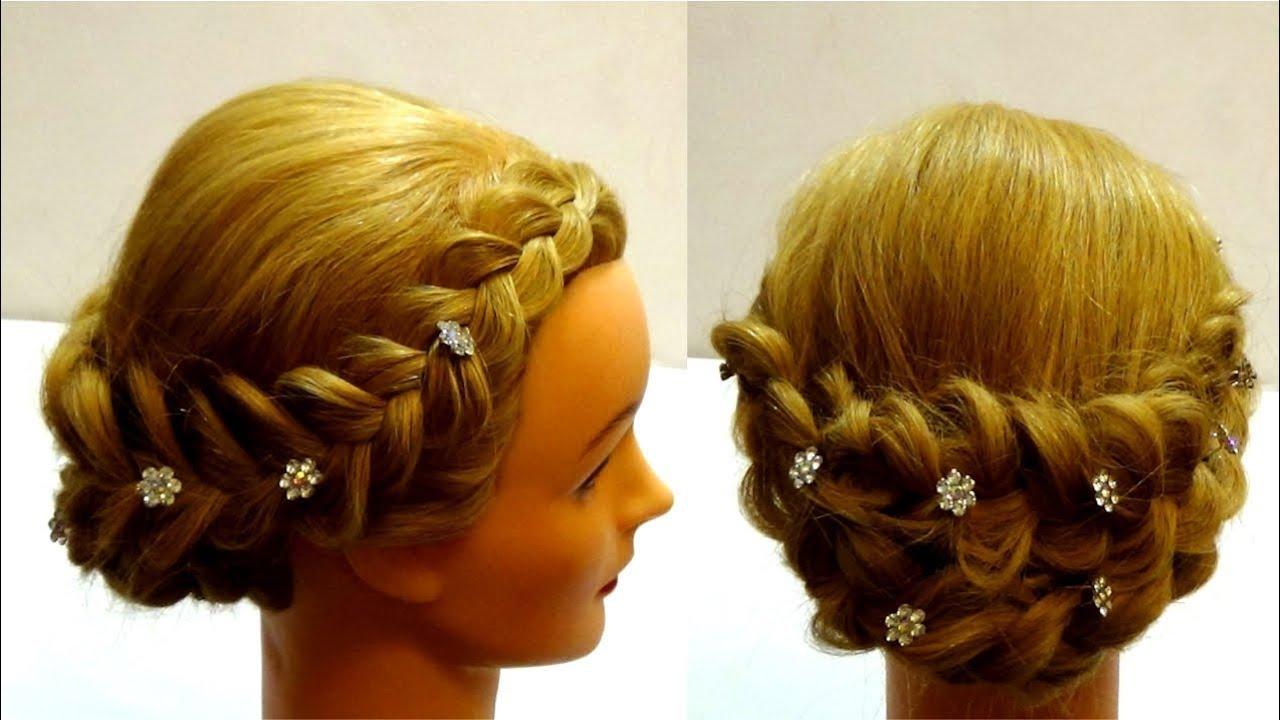 Плетение прически на средние волосы