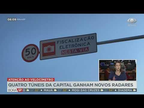 Quatro túneis da capital paulista ganham novos radares de velocidade