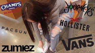 Teen Shopping Spree Vlog at the Mall | Hollister, Champs, Vans, Journeyz, Pac Sun, Zumiez