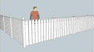 SketchUp Fencing Lessons Part A.wmv(In this first of 3 video clips follow the process of creating a decorative post for an ornate picket fence. Using the
