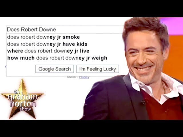 Robert Downey, Jr. Finds Out What Happens When You Google Him | The Graham Norton Show