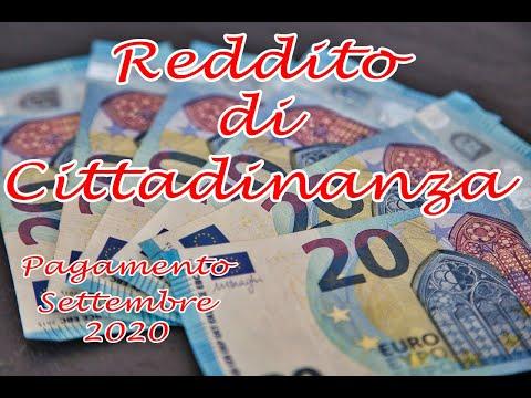 Data Pagamento del Reddito di Cittadinanza Settembre 2020