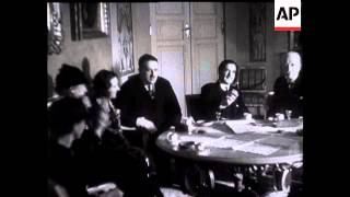 Anthony Eden Entertained by Polish President