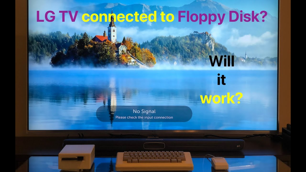 Video: LG's Smart TV connected to a floppy disk and original