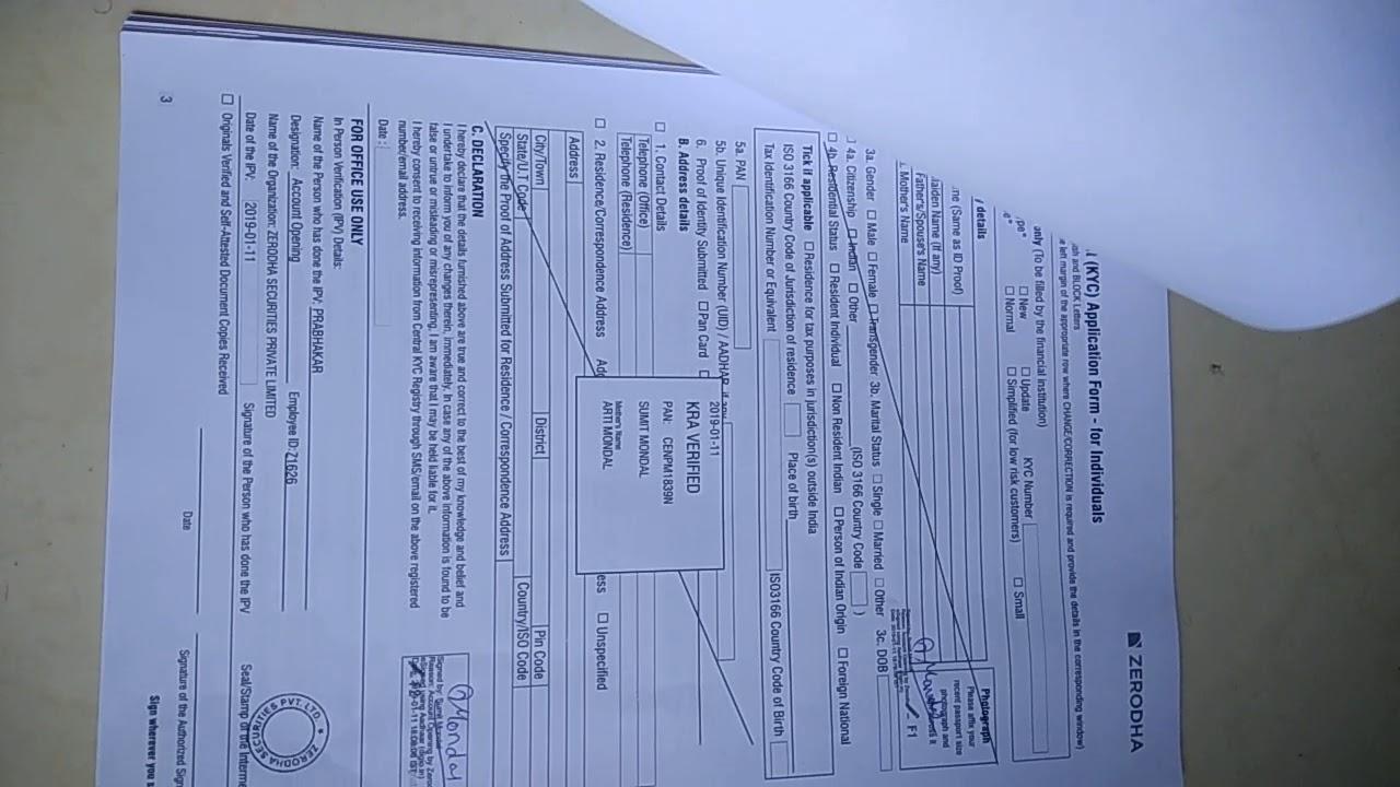 power of attorney form zerodha  ZERODHA Document : zerodha POA and ECN Form filling up How ...