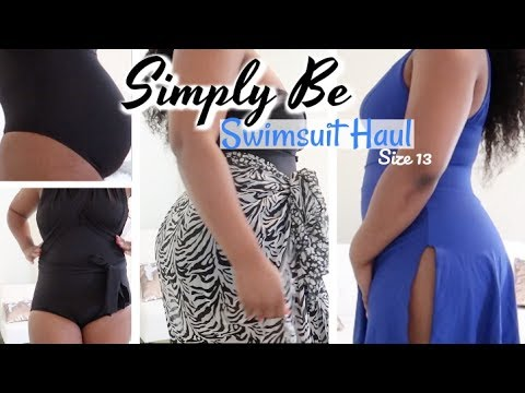 Swimsuit Haul For Thick Curvy Girls: Size 13 | Trying On Simply Be