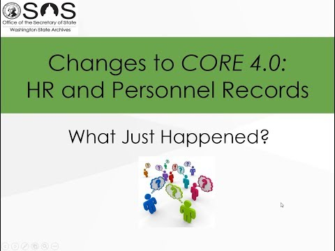 Changes to CORE v.4.0: HR and Personnel Records