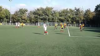 Voetbal RCL JO15-1 - DOSR JO15-1  Schittered doelpunt  Sem de Roo