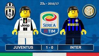 JUVENTUS INTER 1-0 • Serie A 2016/17 ( Film Lego Calcio ) Goal e Highlights Juve Inter 05/02/2017