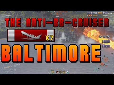 Baltimore - the anti-BB Cruiser - 7 kills || World of Warships