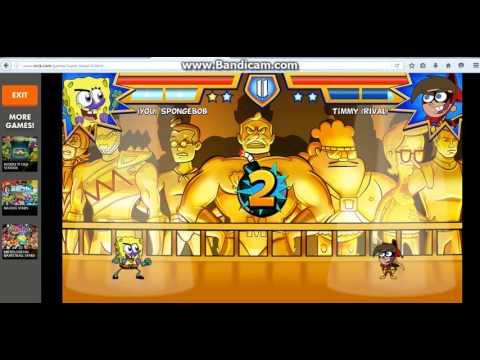 мультик игра губка боб карате драка за черепашек ниндзя часть 1
