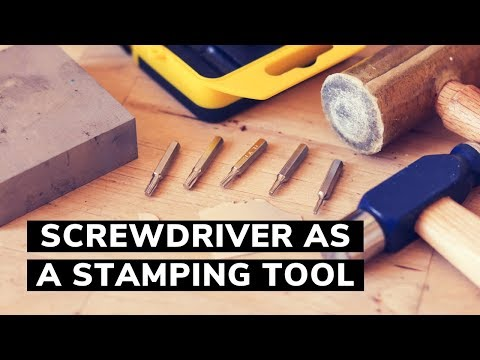 METAL STAMPING HACK! How to use screwdriver as metal punches. Jewelry making tips