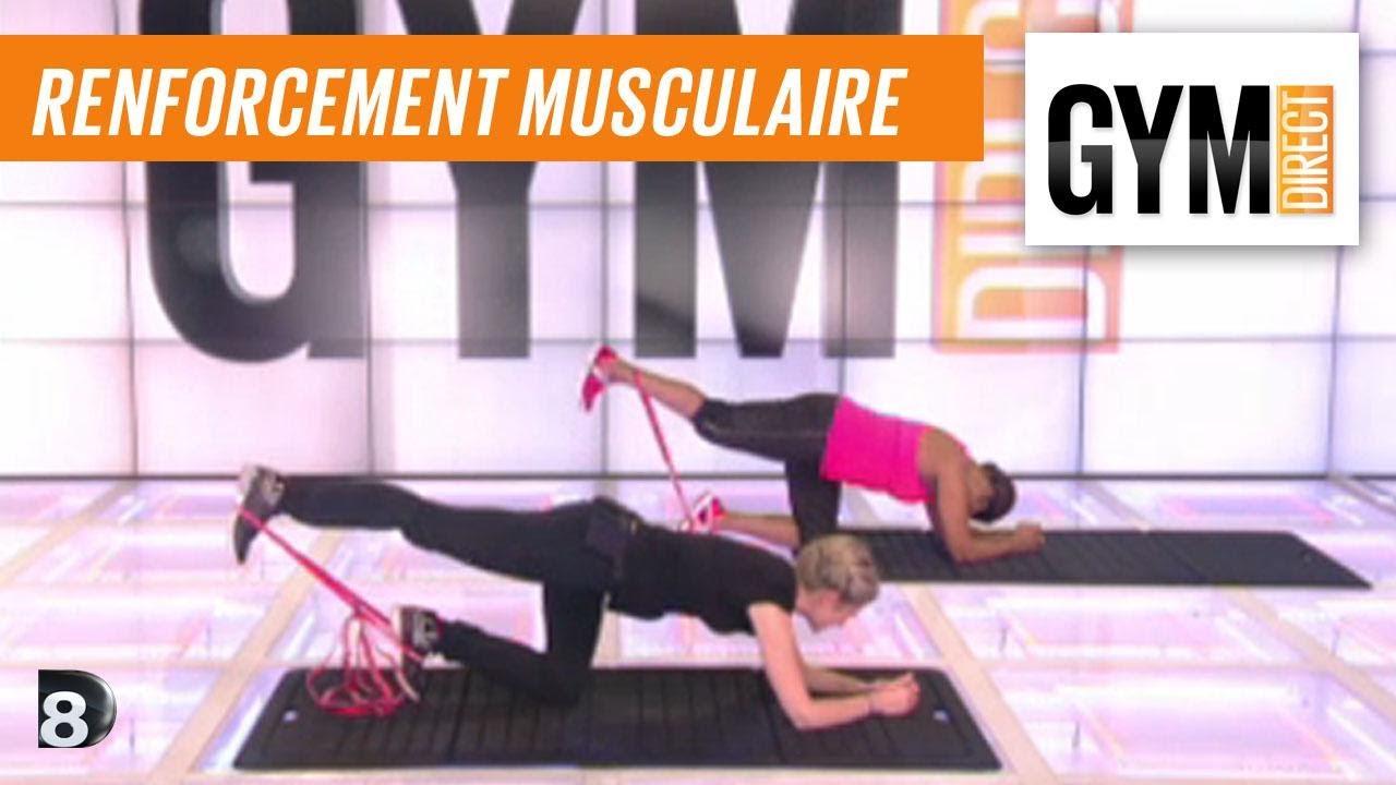 Populaire Cours gym : renfort musculaire 11 : Fessiers avec un élastique  CC75