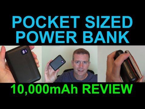Pocket Portable Power Bank 10000mAh Charger Battery Backup AINOPE LCD  Display Small Demo Review