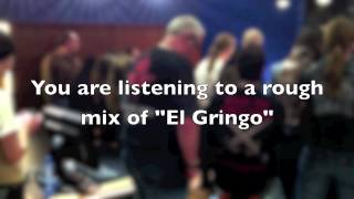 Members of The Circle listening to a preview of 'El Gringo' from th...