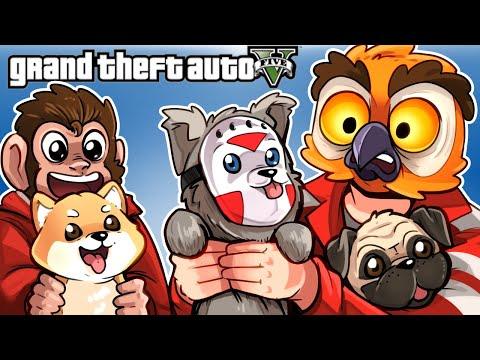 GTA 5 - LUI TURNED US INTO DOGS!!! (Funny Moments & Peyote plants)