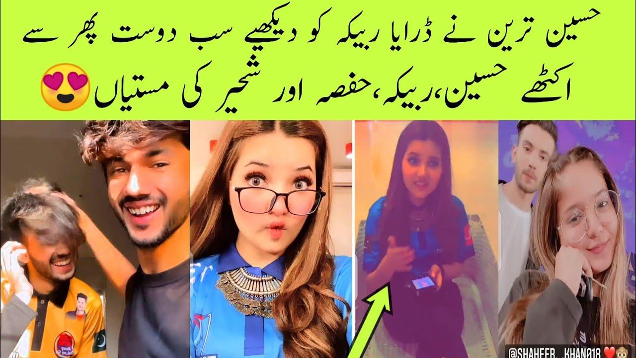 Download Hussain tareen,Rabeeca khan,shaheer khan & Hafsa khan Fun & masti in Bol house