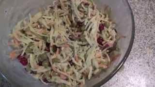 Полезный салат из зеленой редьки и моркови
