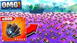 USING 800 C4 ON THE PURPLE LOOT LAKE! Fortnite Purple Cube!