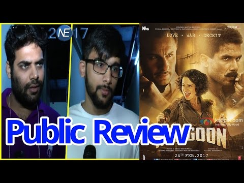 'Rangoon' Movie PUBLIC REVIEW | Shahid Kapoor, Kangana, Saif Ali Khan