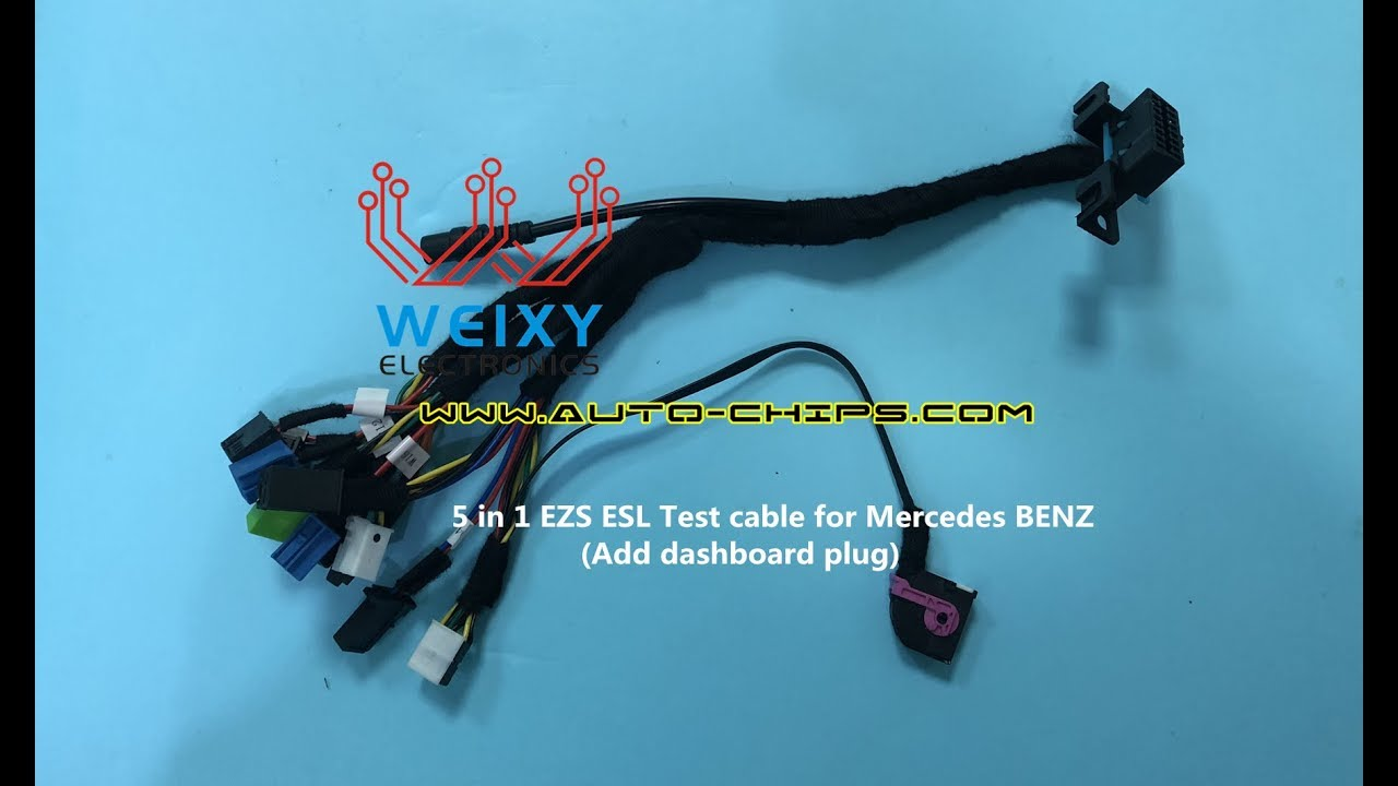 5 in 1 EZS ESL Test cable for Mercedes BENZ (Add dashboard plug ...