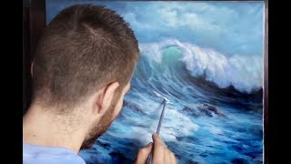 Video Acrylic Seascape Painting | Windy Crashing Wave download MP3, 3GP, MP4, WEBM, AVI, FLV Juni 2018