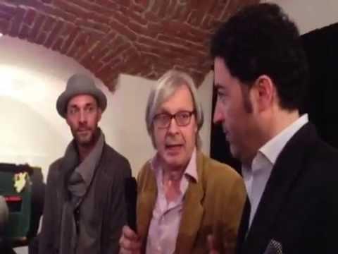 Vittorio Sgarbi parla della mostra di Max Laudadio con Salvo Nugnes alla Milano Art Gallery